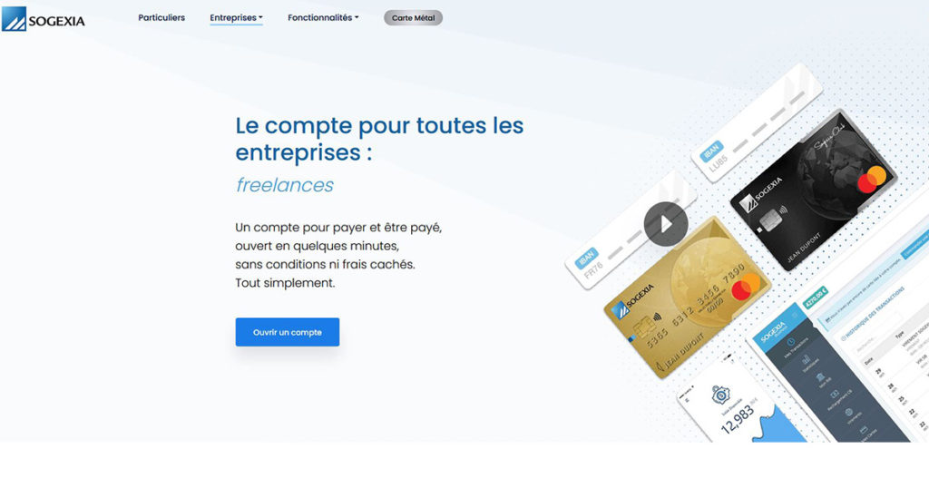 neobanque pro Sogexia Business