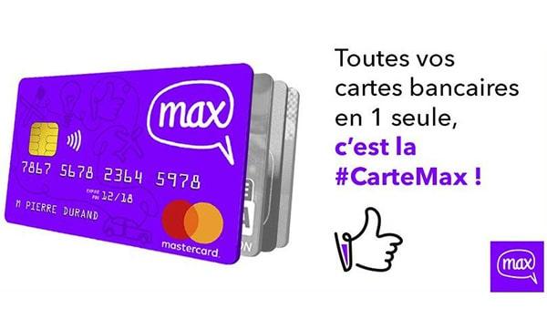 Carte MasterCard gratuite Max