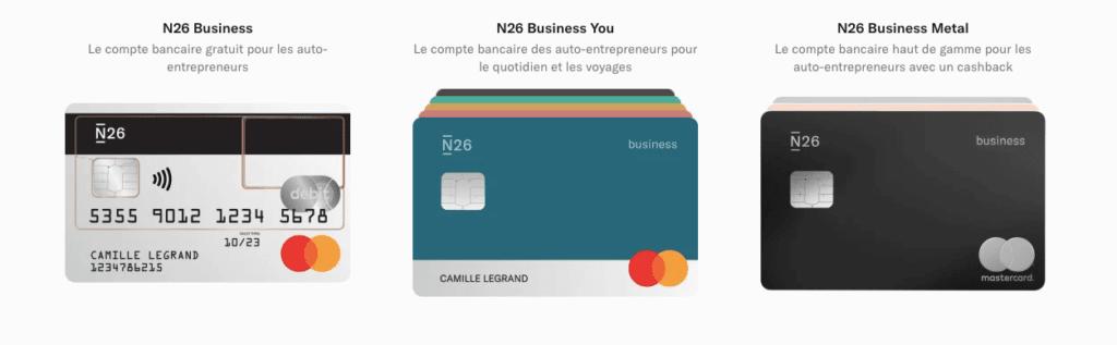 carte bancaire cashback N26 Business