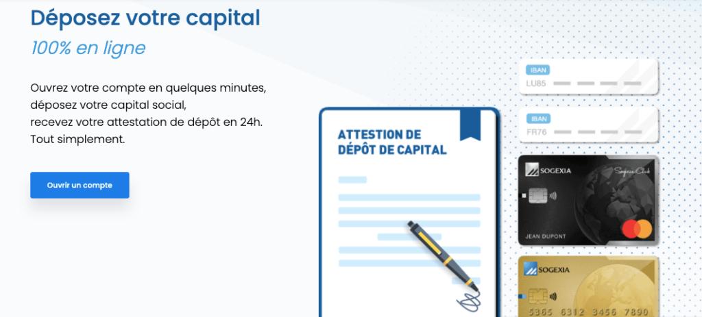Dépot de capital en ligne Sogexia