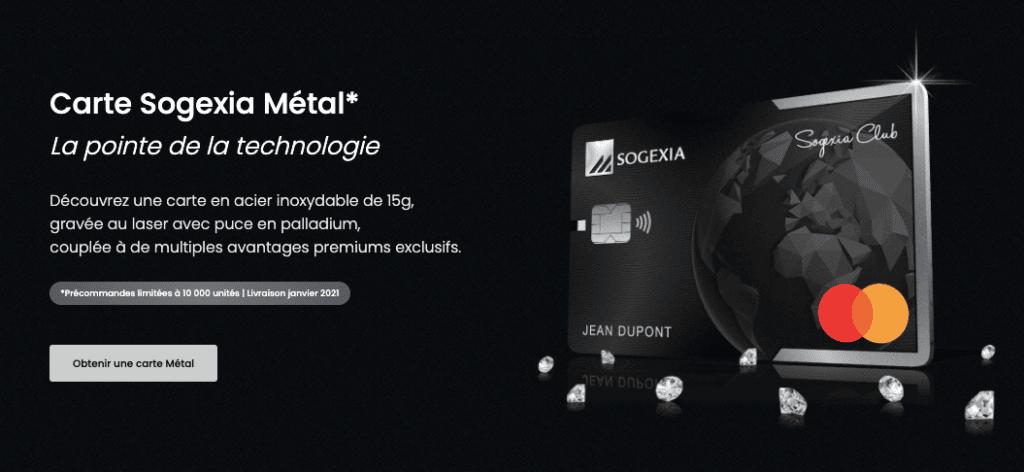 Sogexia carte metal