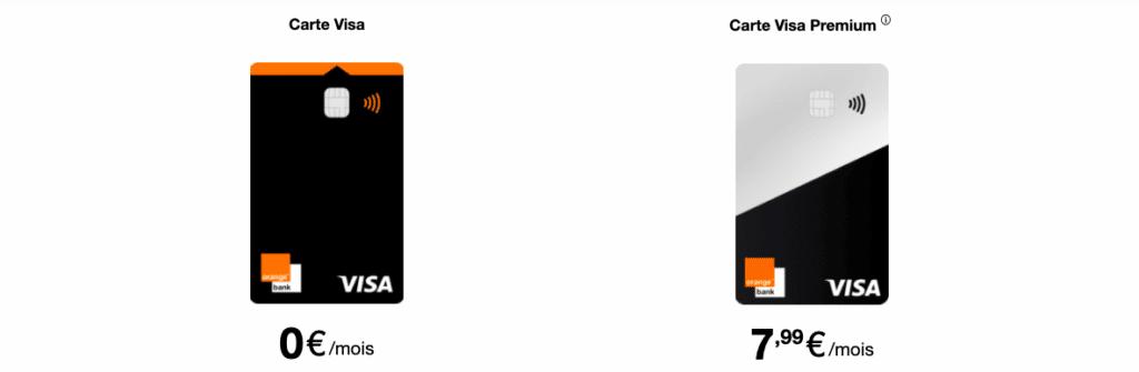 Devenir client Orange Bank : choisir sa carte