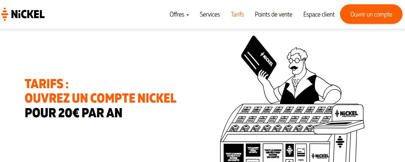 avis tarifs compte Nickel