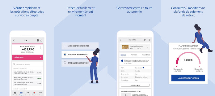 La Banque Postale Avis application mobile