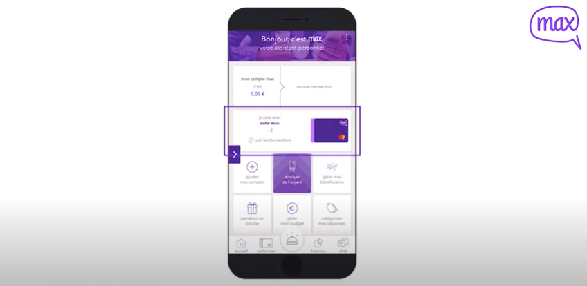 Générer carte bancaire virtuelle Aumax
