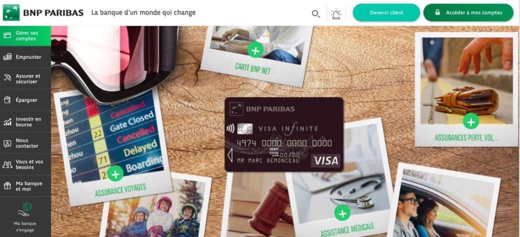 BNP Paribas Visa infinite gratuite