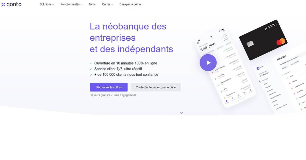 Banque en ligne SASU Qonto