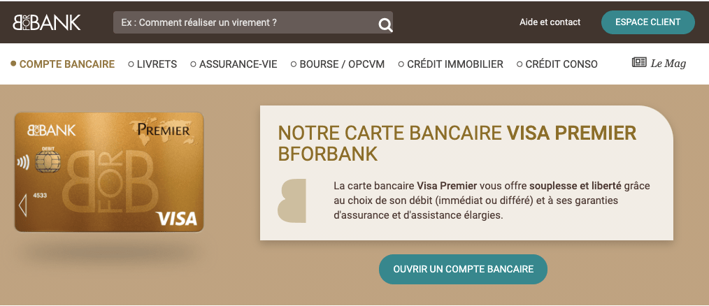 débit différé visa Bforbank