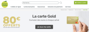 Carte de crédit Gold Mastercard Banque Casino