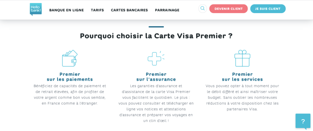 assurances et assistances Visa Premier gratuite