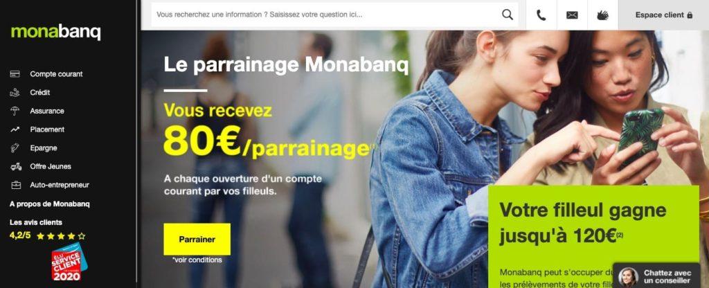 Offre bienvenue Monabanq parrainage