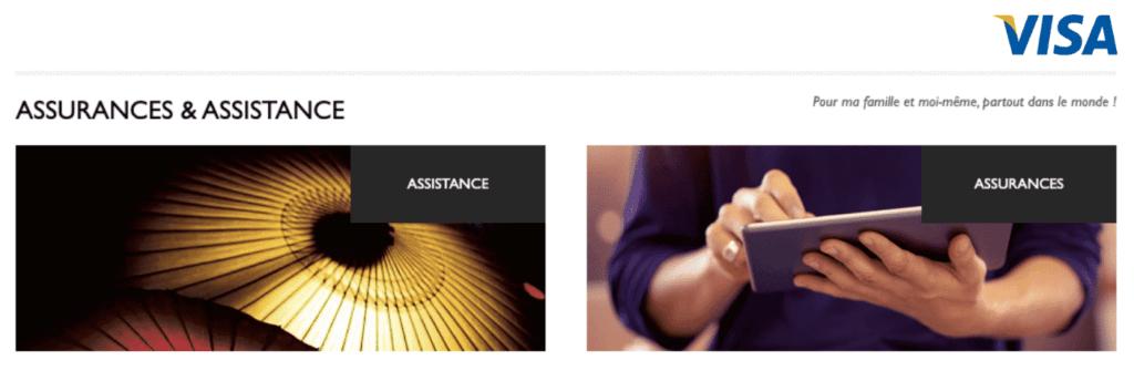 Assurances et assistances carte visa infinite gratuite