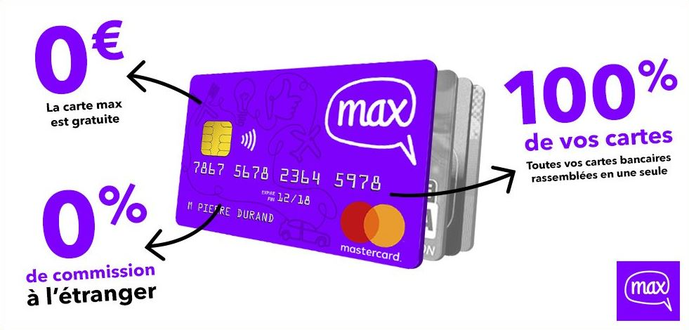 Banque gratuite sans frais Max