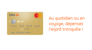 Carte bancaire Gold Mastercard ING