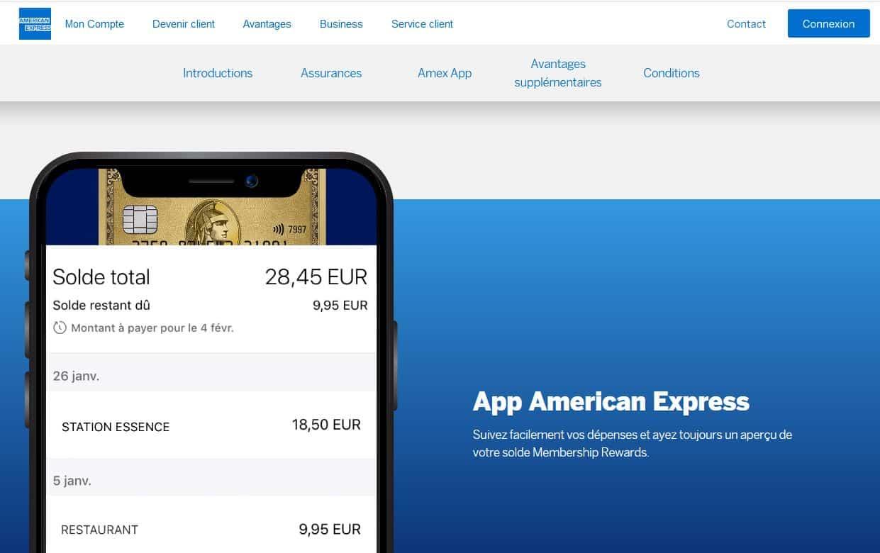 Green American Express : l'appli mobile