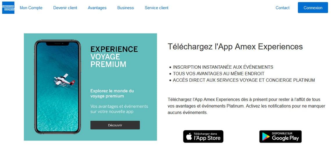 Platinum Amex avis appli mobile