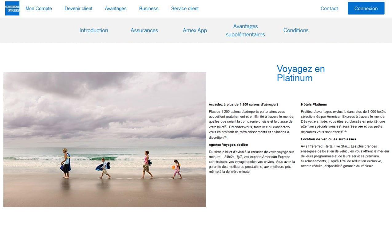 Platinum Amex avis assistances