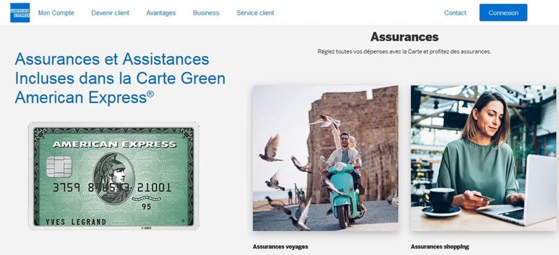 Green American Express avis : les assistances