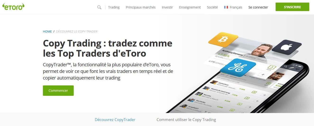 trading social sur eToro