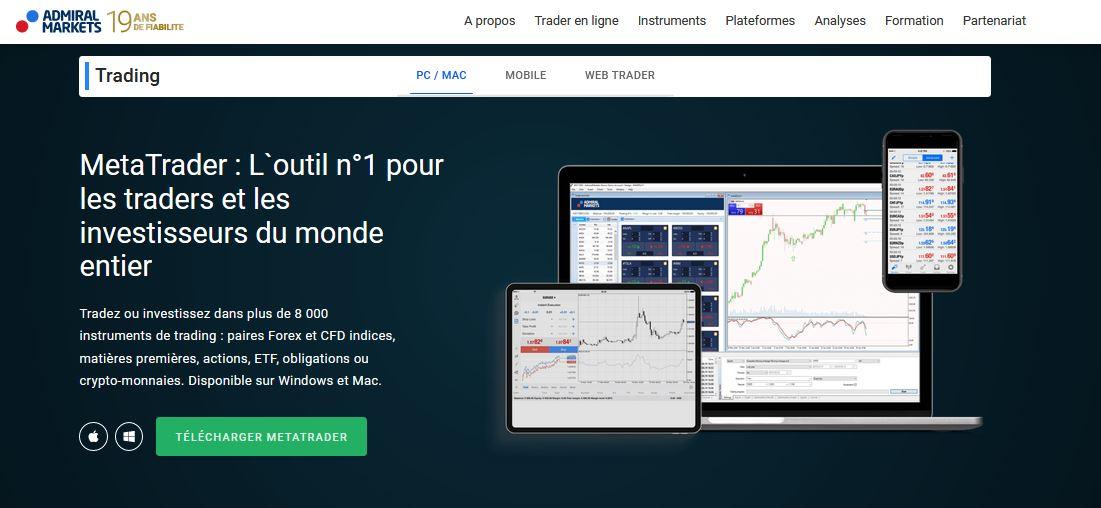 plateforme trading admiral markets avis