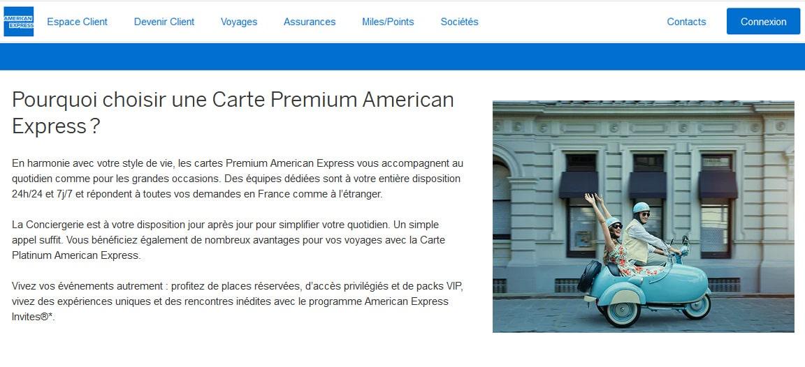 Platinum American Express avis services