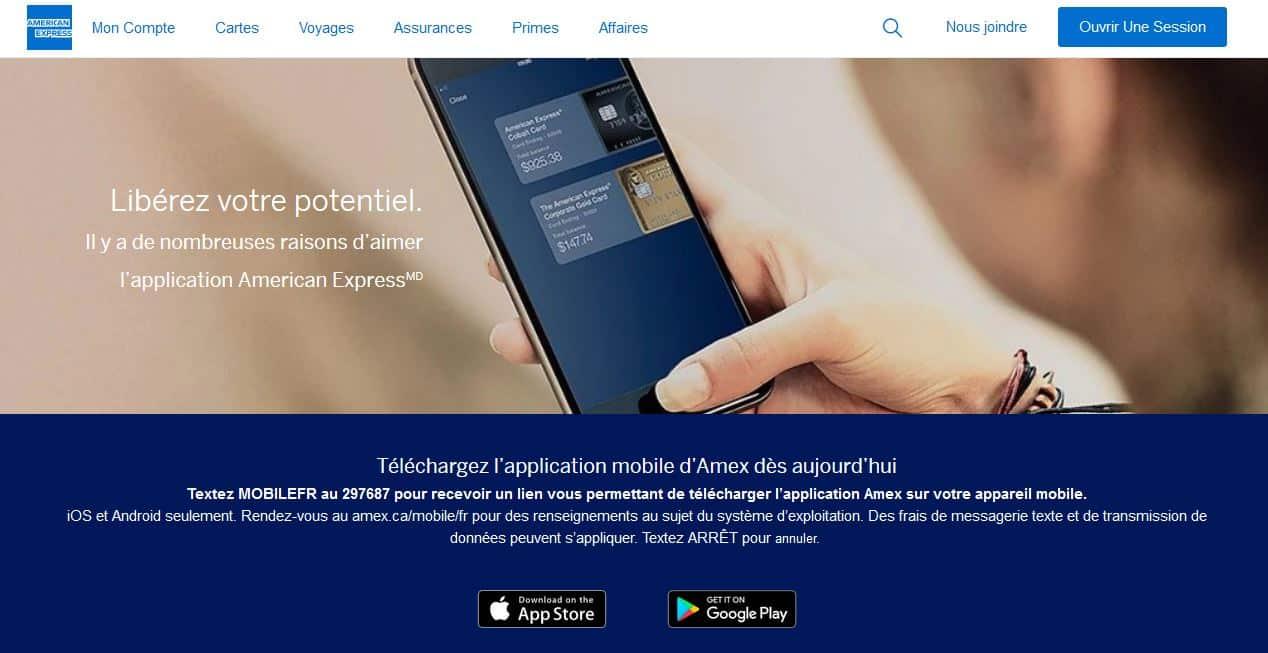 american express avis: l'appli mobile