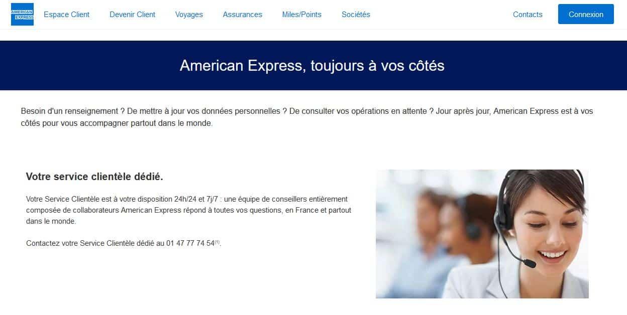 american express avis le service client
