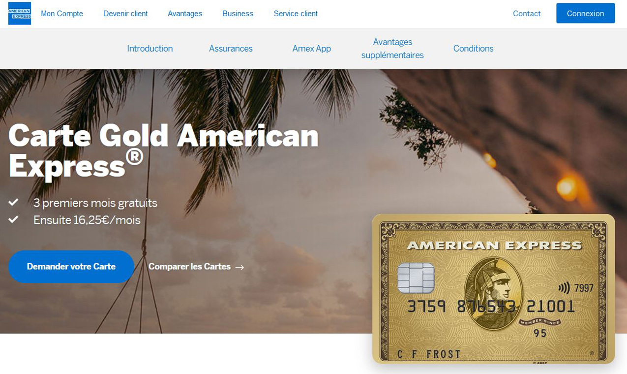 American Express avis Gold