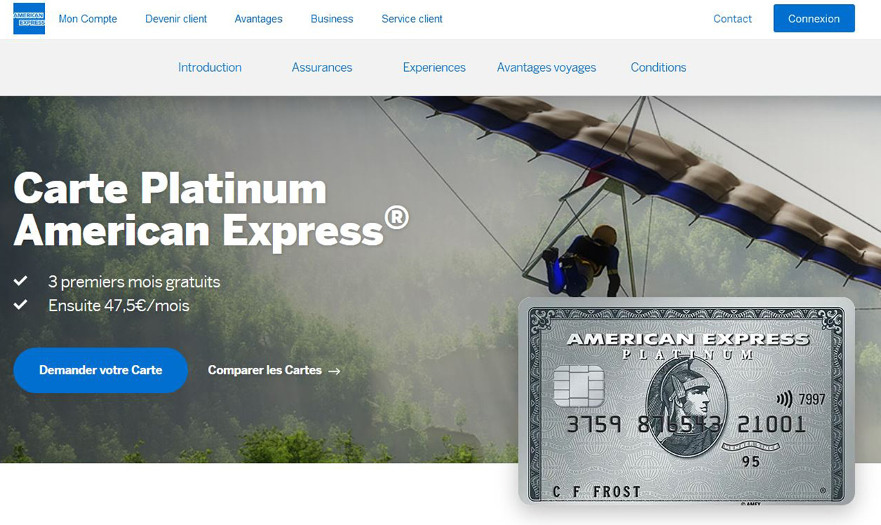 American Express avis Platinum