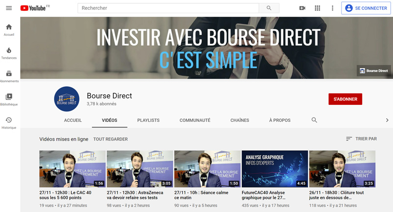 avis formation courtier Bourse Direct