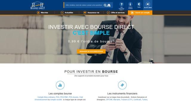 avis courtier Bourse Direct marchés