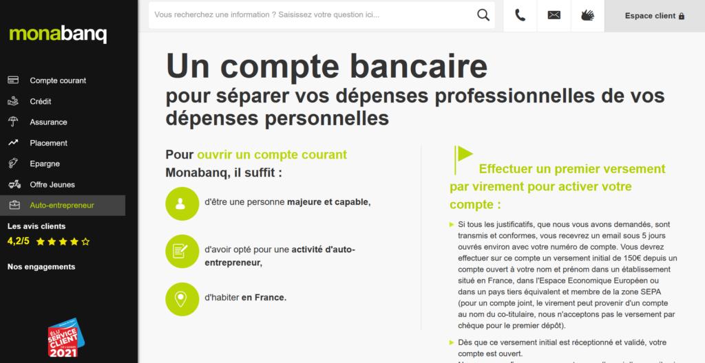 comparatif meilleure banque pour les professionnels
