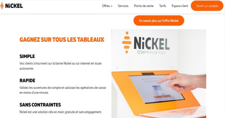 Point de vente Nickel