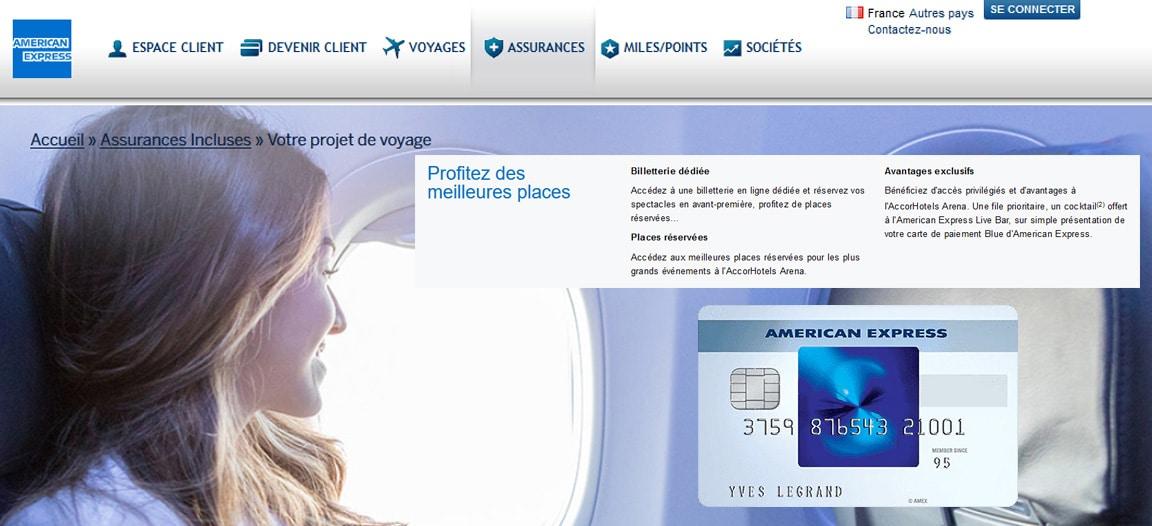 Blue American Express avis : Les services