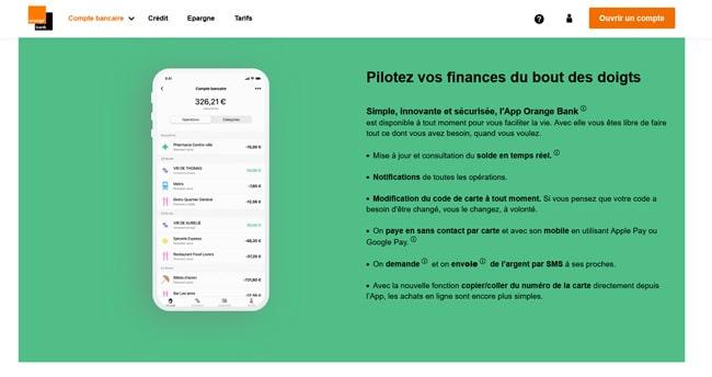 appli mobile orange bank avis