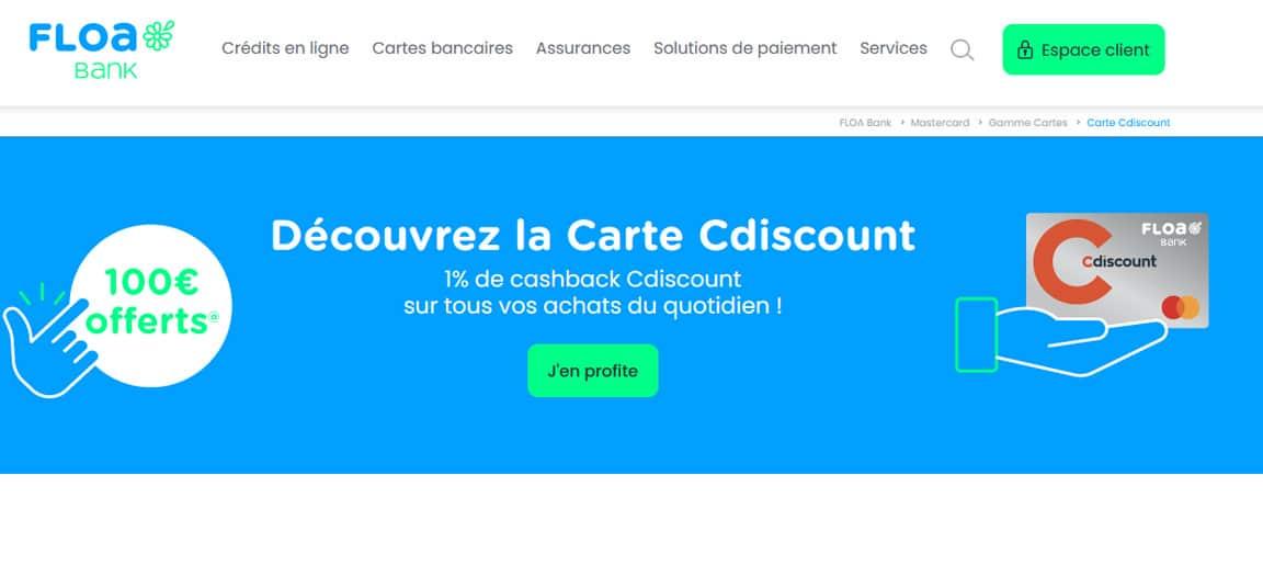 Avis Banque Casino : La carte Cdiscount