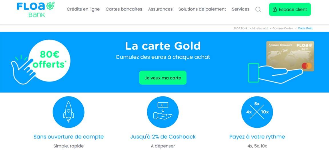 Avis Banque Casino : la carte Gold mastercard