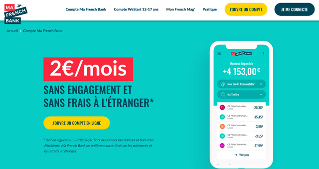 compte Ma French Bank avis