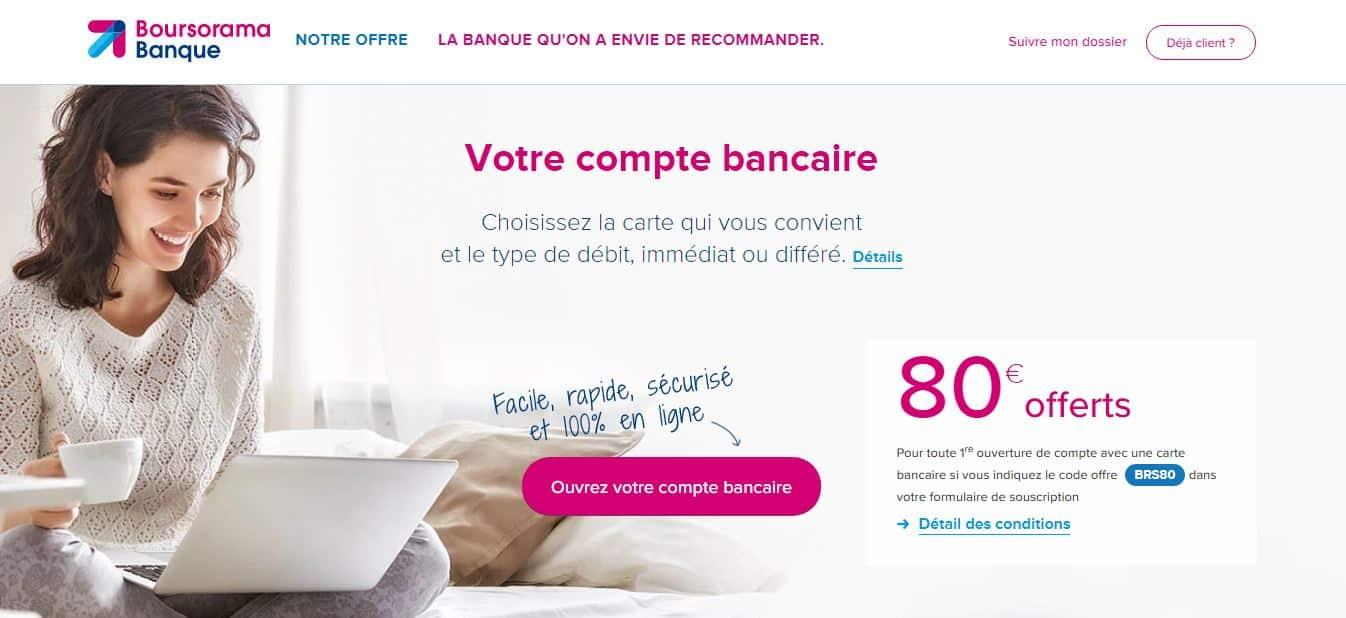 Domiciliation bancaire chez Boursorama Banque gratuite et rapide