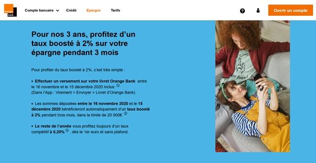 Avis Orange Bank livret d'épargne