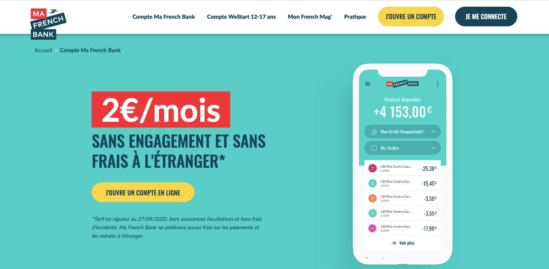 Paiement par sms Ma French Bank un service gratuit