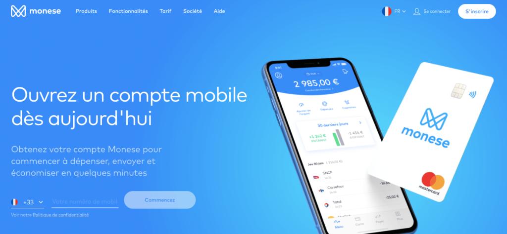 banque mobile Monese