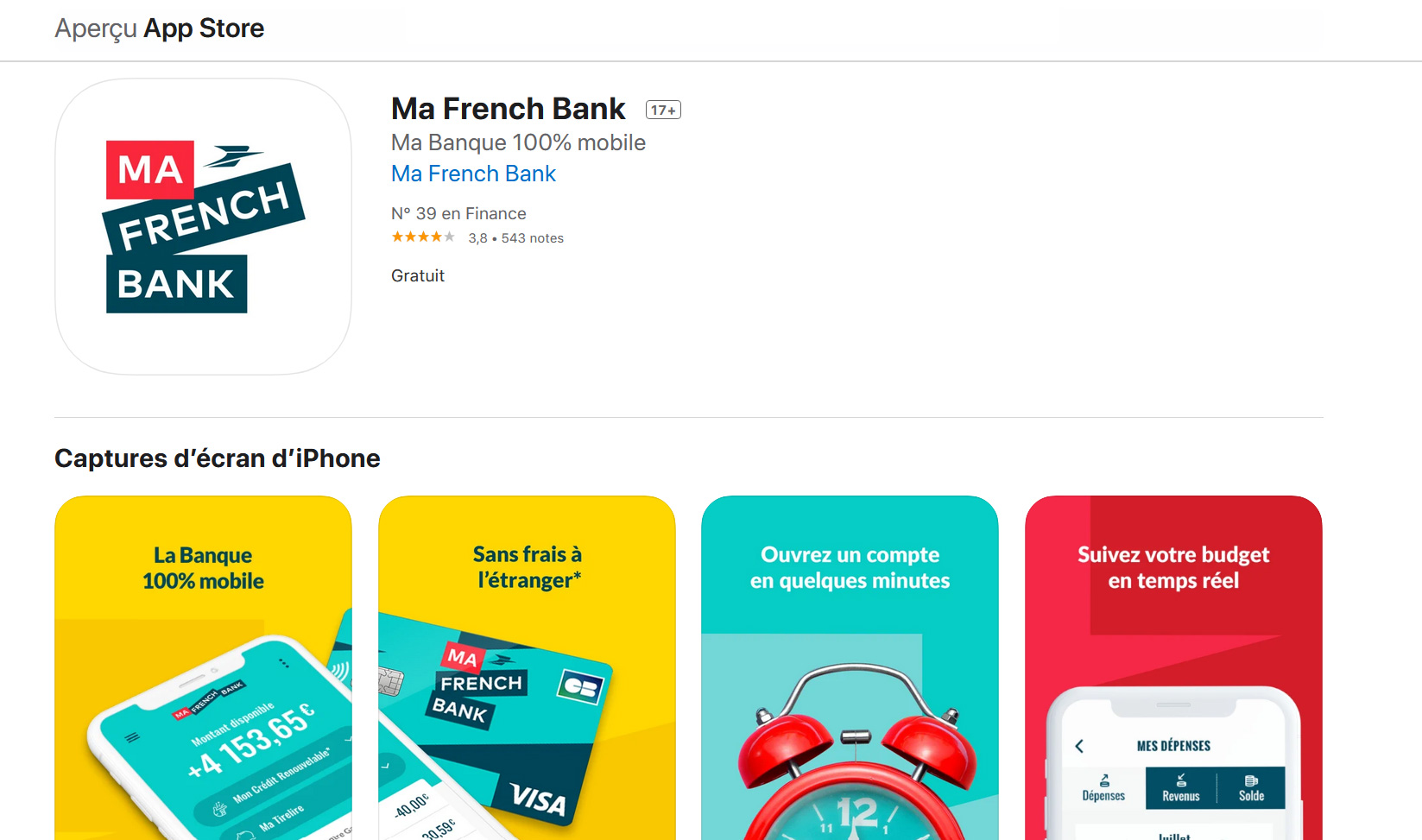 avis service client Ma French Bank