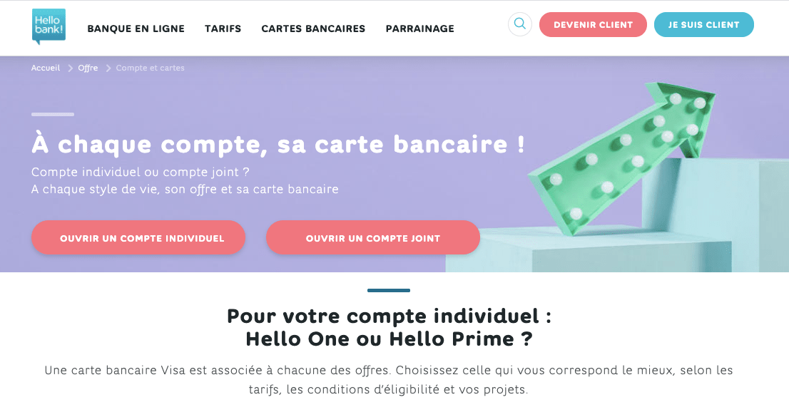 Agios Hello Bank comptes débiteurs