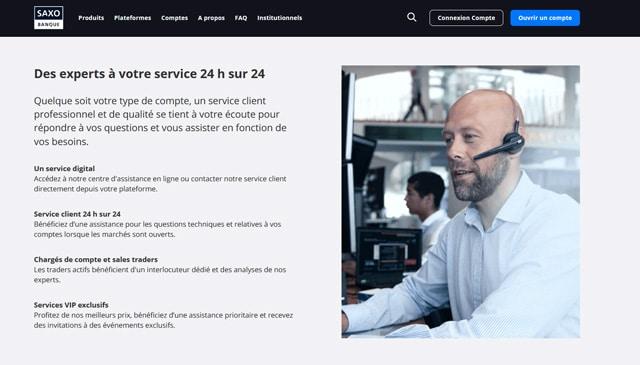 service client Saxo Banque avis