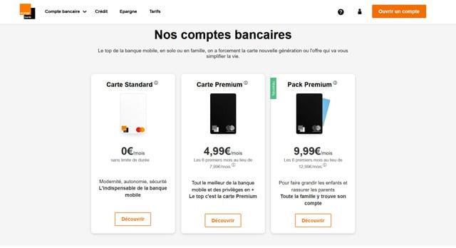 Agrégateur de compte Orange Bank application mobile