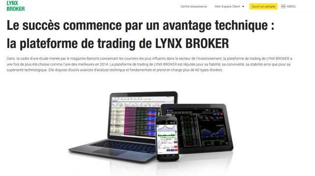 lynx broker avis plateforme