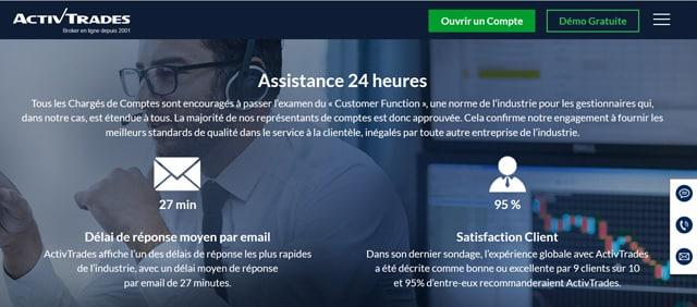ActivTrades Avis service client