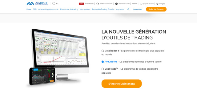 AvaTrade Avis plateforme trading