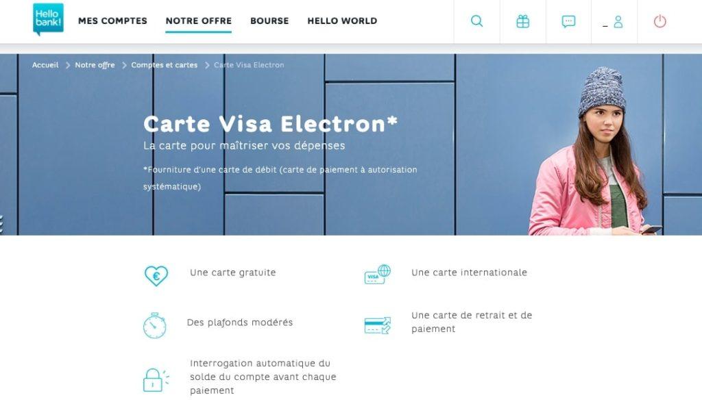 Carte Visa Electron
